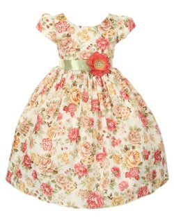 Bountiful Harvest Rustic Jacquard Dress by Cinderella Couture Girls in Shutter Island