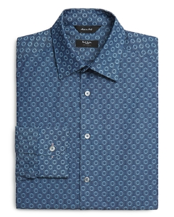 Circle Print Slim Fit  Shirt by Paul Smith in Vinyl