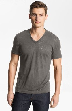 V-Neck Linen Shirt by John Varvatos in Entourage