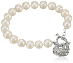 Heart Toggle Bracelet by Bella Pearl in Sisters