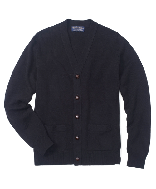 Cashmere Button-Front Cardigan by Brooks Brothers in Adult Beginners