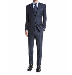 O'Connor Base Prince of Wales Three-Piece Suit by Tom Ford in Suits