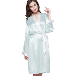 Mid-Length Silk Robe by Lily Silk in The Living Daylights