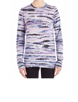 Long-Sleeve Tie-Dye Cotton Jersey Tissue Tee by Proenza Schouler in Animal Kingdom