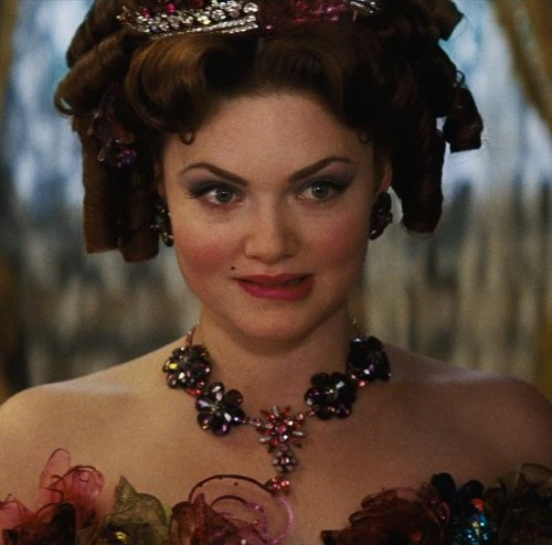 Custom Made Floral Rhinestone Necklace (Anastasia) by Sandy Powell (Costume Designer) in Cinderella