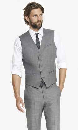 Micro Twill Suit Vest by Express in The Big Bang Theory