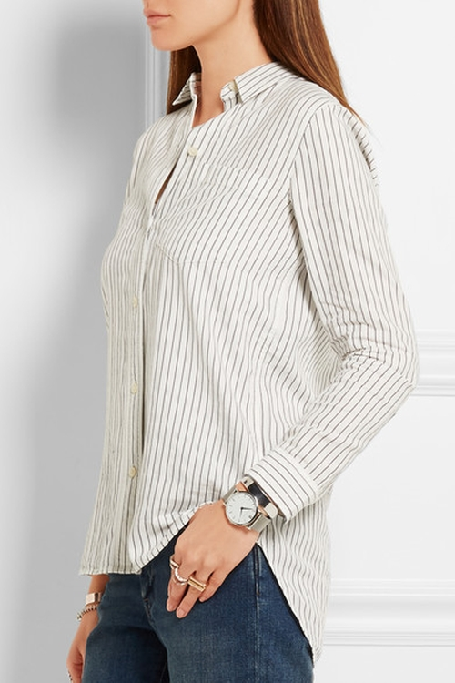 Striped Cotton Shirt by Madewell in Suicide Squad