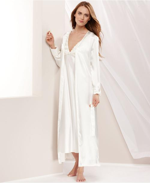 Charmeuse Robe by Flora by Nikrooz Bellflower in Addicted