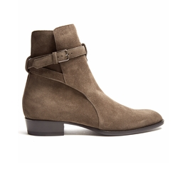 Wyatt Jodhpur Suede Ankle Boots by Saint Laurent in Empire