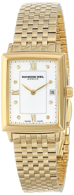 Tradition Gold PVD-Coated Watch with Diamonds by Raymond Weil in Suits