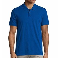 Short-Sleeve Slub Polo Shirt by Vince in Jason Bourne