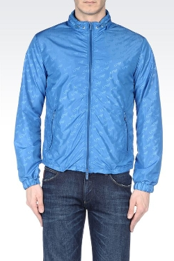 Blouson in Logo Patterned Technical Fabric by Shanghai GuLi International Trading Limited in Man of Tai Chi