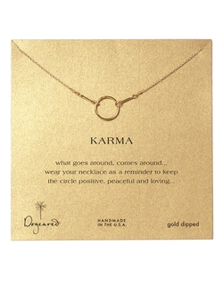 Gold Dipped Karma Necklace by Dogeared in Pretty Little Liars