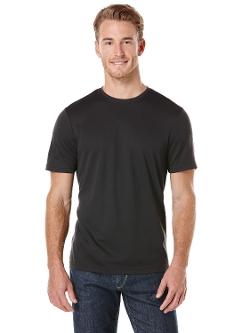 Luxe Knit Crew Neck Shirt by Perry Ellis in Silver Linings Playbook