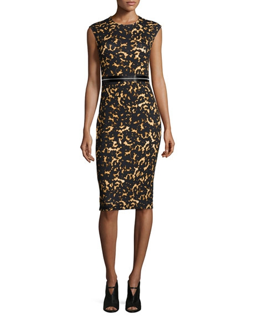 Printed Bodycon Zip Dress by McQ by Alexander McQueen in Mistresses - Season 4 Episode 4