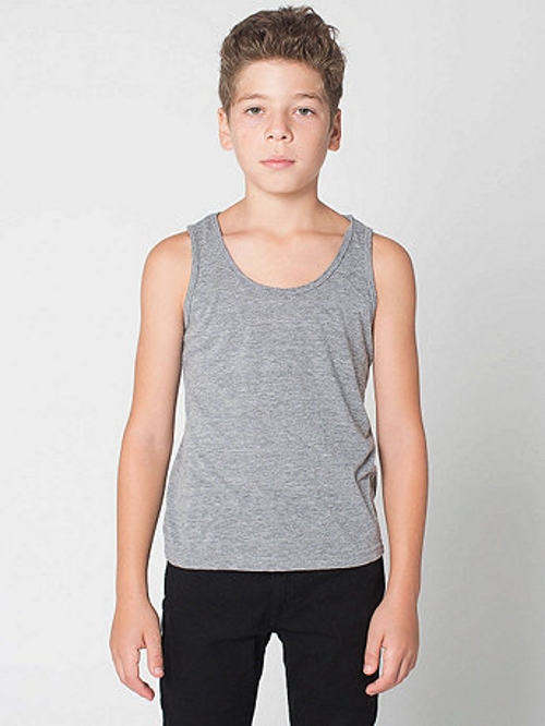 Youth Tri-Blend Tank Top by American Apparel in Pan