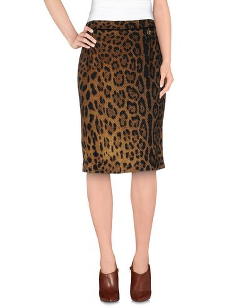 Leopard Print Knee Length Skirt by Class Roberto Cavalli in Mistresses - Season 4 Episode 2