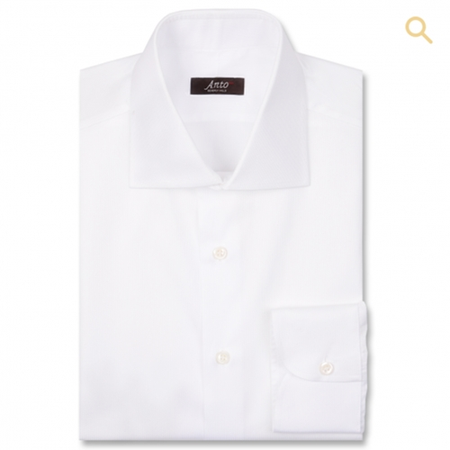 White Hairline Dress Shirt by Anto Beverly Hills in Central Intelligence
