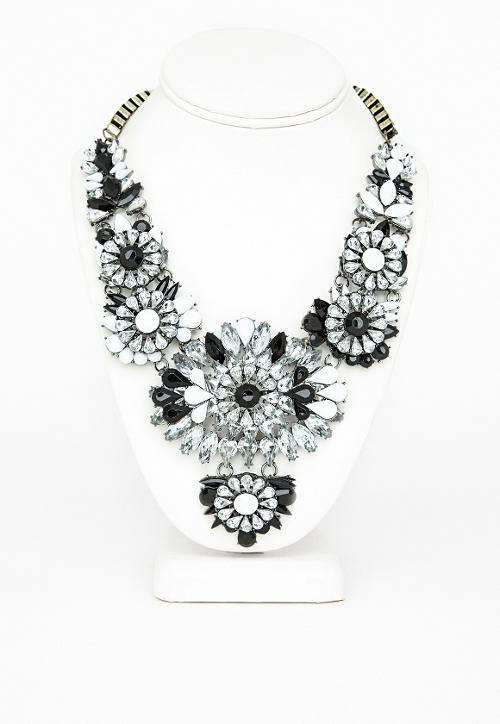 Floral Gem Statement Necklace by Ravenna in Limitless