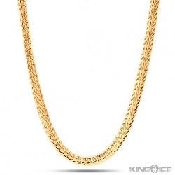 Men's 14k Yellow Gold Plated Franco Chain by King Ice in Max