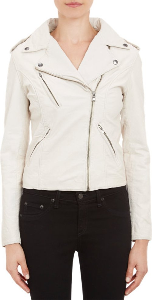 Lambskin Moto Jacket by Barneys New York in Pitch Perfect 2