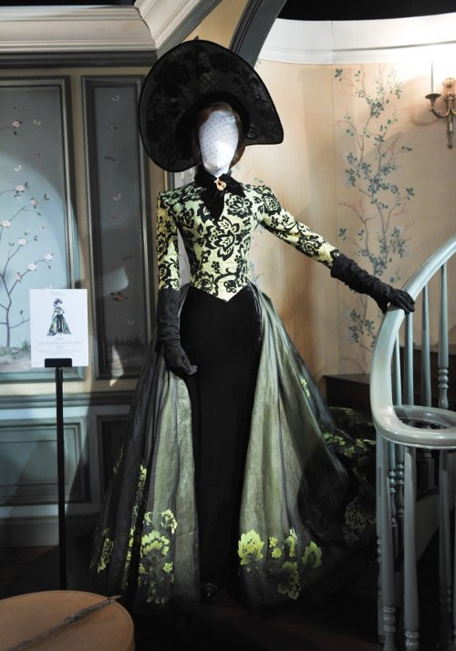 Gold Lam Bodice with Black Florals by Sandy Powell (Costume Designer) in Cinderella