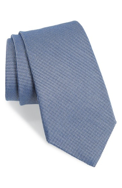 Textured Cotton & Silk Blend Tie by Gitman in Suits - Season 5 Episode 13