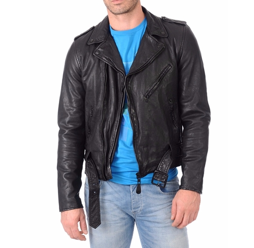 Lambskin Bomber Biker Jacket by Zoha Collection in Shadowhunters - Season 1 Looks