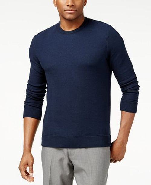 Pique Stitch Cotton Crewneck Sweater by Michael Kors in Popstar: Never Stop Never Stopping