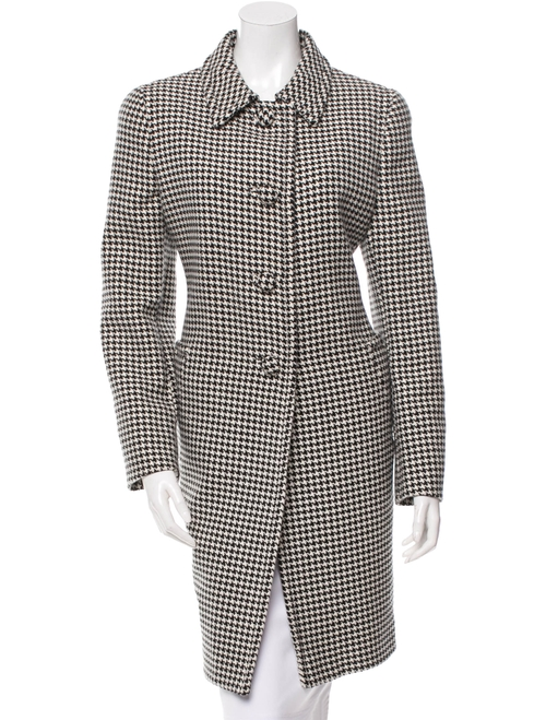Houndstooth Patterned Wool Coat by Prada in Keeping Up With The Kardashians - Season 12 Episode 9