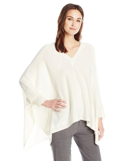 Rib Cuff V Neck Poncho Sweater  by Vince  in The Bachelorette