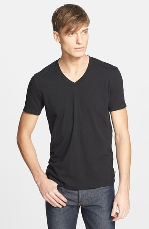 Jersey V-Neck T-Shirt by James Perse in She's Funny That Way