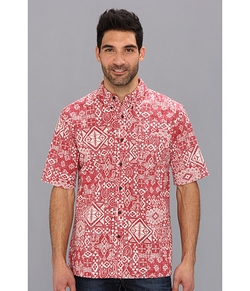 Printed Button Down Fitted Camp Shirt by Pendleton in The Big Bang Theory