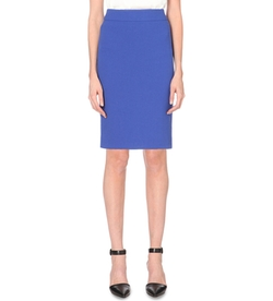 High-Rise Wool-Crepe Pencil Skirt by Armani Collezioni in Supergirl