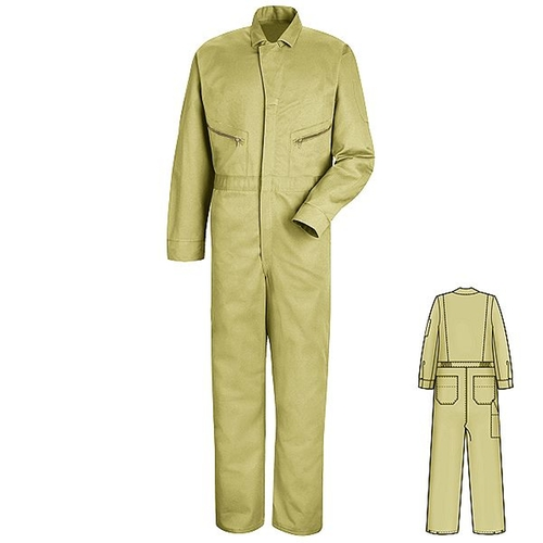 Khaki Zip-Front Cotton Coveralls by American Work Apparels in The Spy Who Loved Me