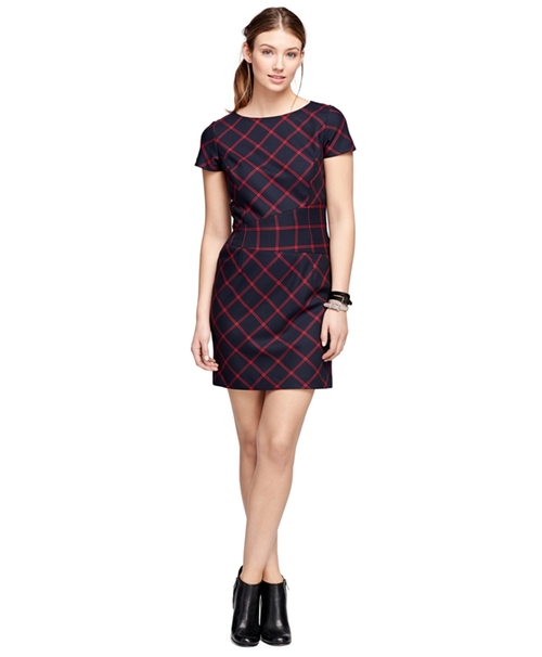 Wool Windowpane Dress by Brooks Brothers in Scandal - Season 5 Episode 14