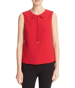 Natalle Bow Detail Crepe Top by Ted Baker London in Riverdale