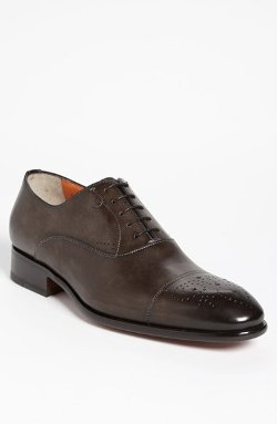 Stafford Cap Toe Oxford Shoes by Santoni in The Loft