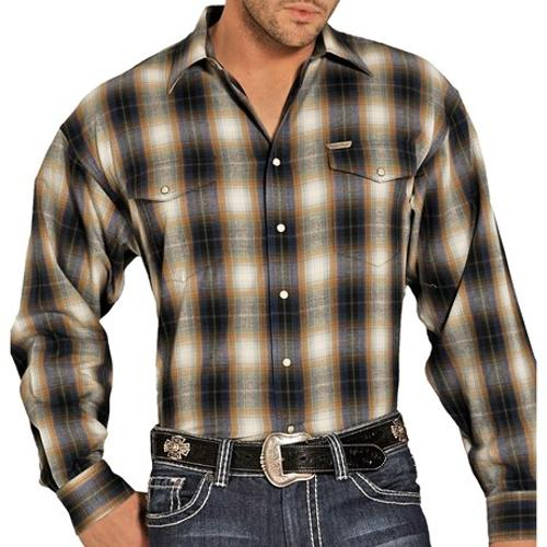 Brushed Bandera Plaid Shirt by Powder River Outfitters in The Best of Me
