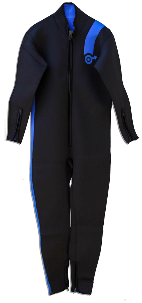 Custom Made Black Neoprene With Blue Stripe Wetsuit by Deena Appel (Costume Designer) in Austin Powers in Goldmember