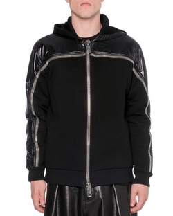 Nylon Neoprene Zip-Up Sweatshirt by Givenchy in Empire