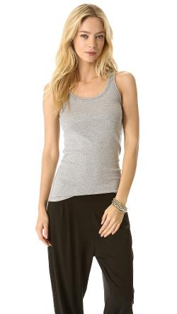 Heather 1x1 Tank Top by Splendid in Warm Bodies