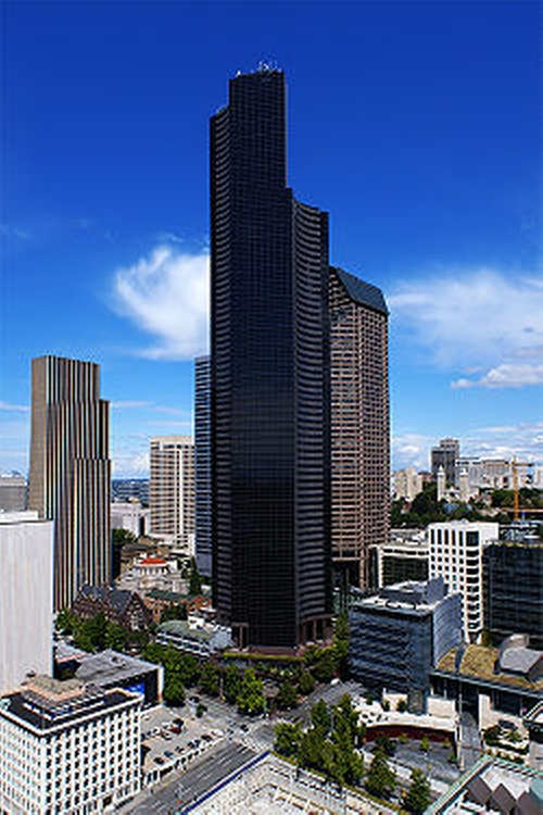 Columbia Center Seattle, Washington in Fifty Shades of Black