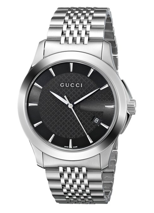 Black Dial Stainless-Steel Watch by Gucci in The D Train