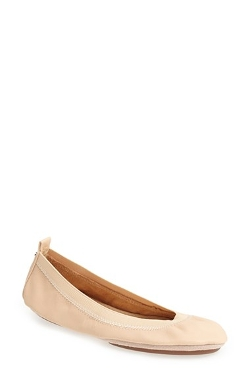 'Samara' Leather Foldable Ballet Flats by Yosi Samra in Ex Machina