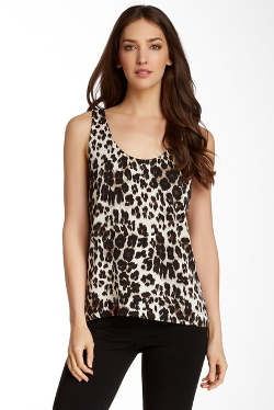 Jackie Silk Blend Tank Top by Diane von Furstenberg in Black or White