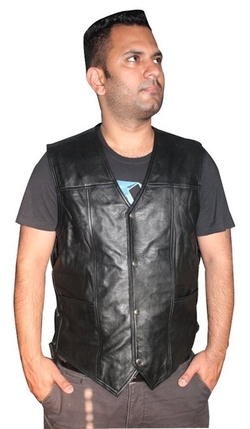 Walking Dead Angel Leather Vest by Hollywood Jacket in Point Break