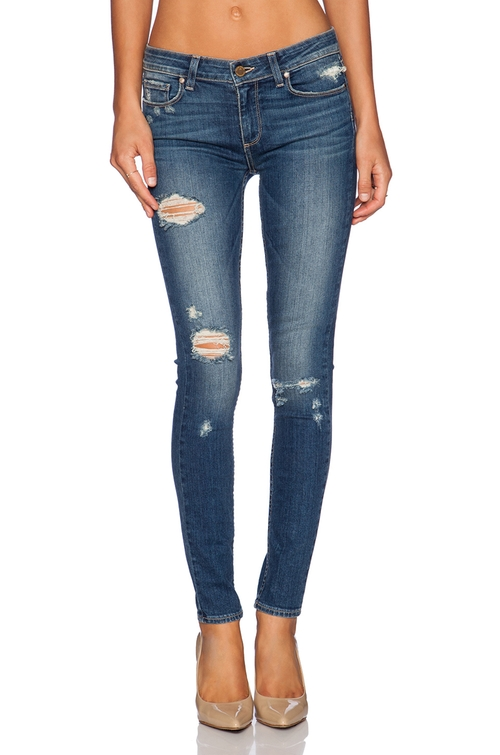 Verdugo Ultra Skinny Jeans by Revolve in Barely Lethal