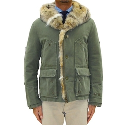 Army Green Fur Lined Hooded Jacket by Ermanno Scervino in Keeping Up With The Kardashians