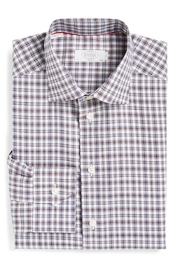 Slim Fit Plaid Dress Shirt by Eton in Wedding Crashers
